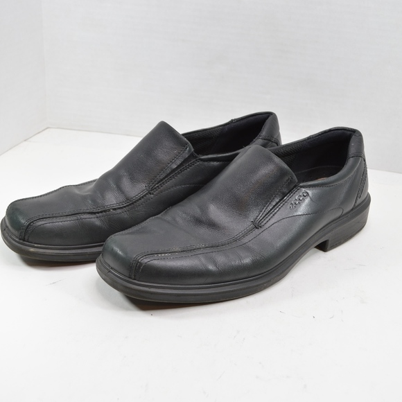 6cba997b76c1a Ecco Shoes | Mens Eu 47 13 Slip On Leather Loafers Black | Poshmark
